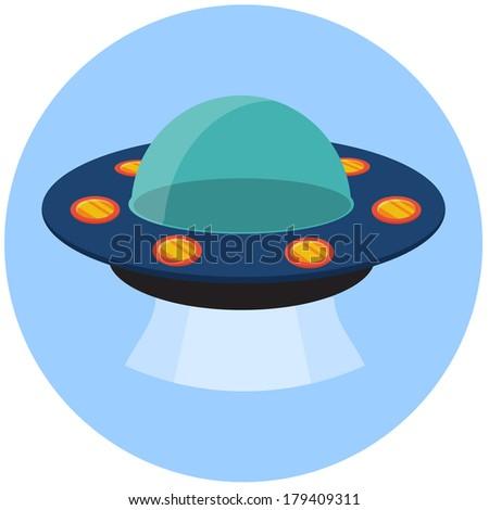 UFO vector flat icon - stock vector