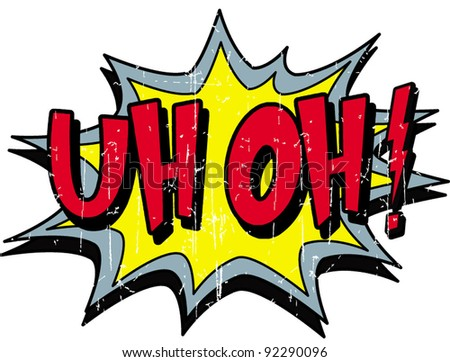 uh oh - stock vector