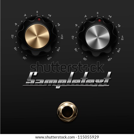 UI Kit Elements, Amp knobs - stock vector