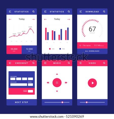 Widget stock images royalty free images vectors for App layout design online