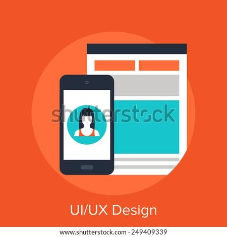 UI - UX Design - stock vector