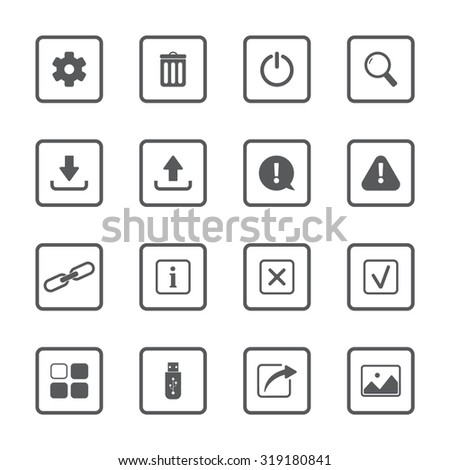 UI vector icons set for web and mobile