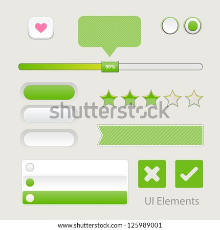 UI Web Elements: Buttons, Switchers, On, Off, Player, Audio, Video