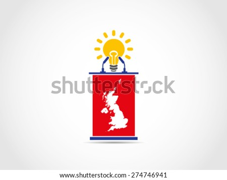 UK Britain Brilliant Idea Solution Policy - stock vector