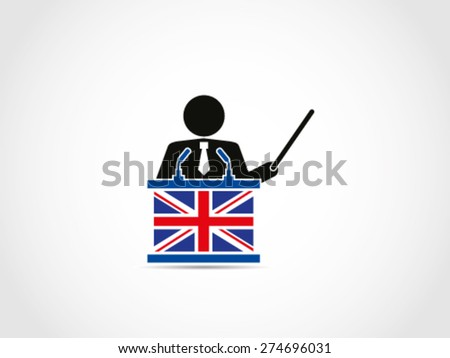 UK Britain Business Instruction Result Presentation Analyst - stock vector