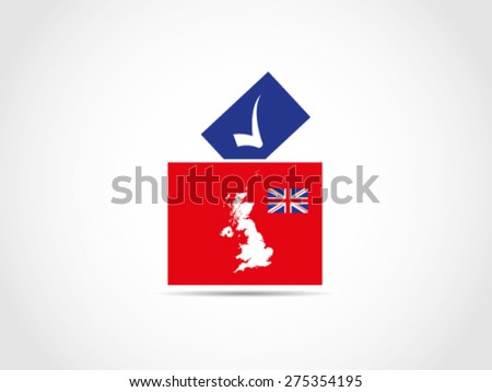 UK Britain Council Ballot Box Voting - stock vector