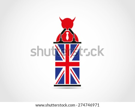 UK Britain Evil Corrupt Politician - stock vector