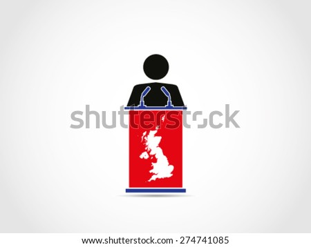 UK Britain Folk People Speech Public - stock vector
