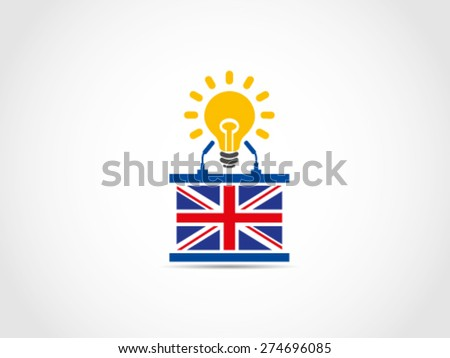 UK Britain Idea Solution Campaign Meeting Policy - stock vector