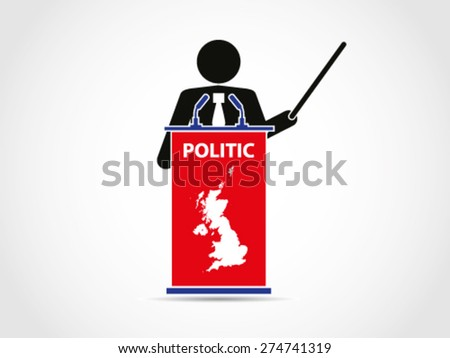 UK Britain Institution Analyze Politic - stock vector