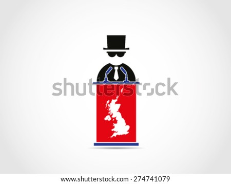 UK Britain Mafia Businessman Manipulate Policy - stock vector