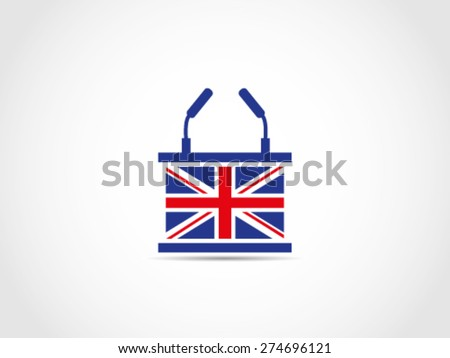 UK Britain Podium Speech - stock vector
