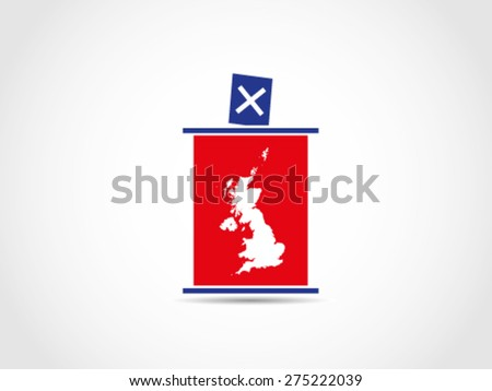 UK Britain Podium Voting Parliament - stock vector