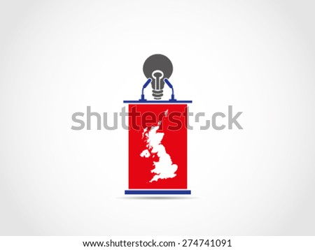 UK Britain Poor Idea Speaking - stock vector