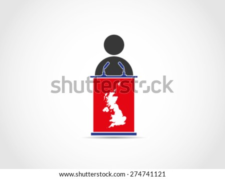 UK Britain Speech - stock vector