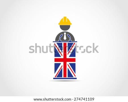 UK Britain Technical Engineering Presentation - stock vector