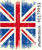 UK dirty flag. A UK flag with a texture for you. - stock photo