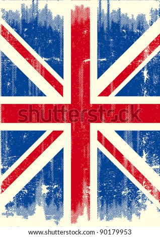 UK dirty flag. A UK flag with a texture for you. - stock vector