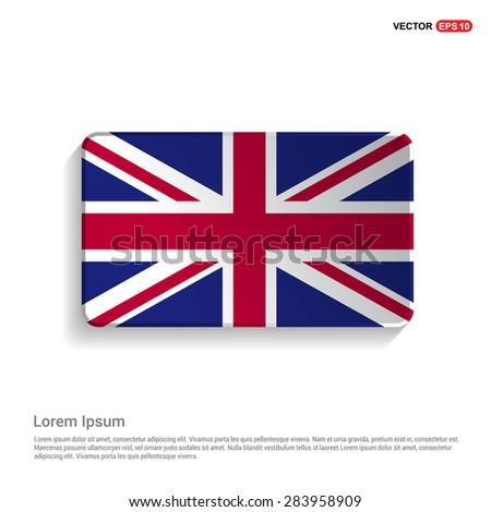 UK flag isolated on white background - vector illustration - stock vector
