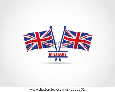 UK Flags Military Emblem - stock vector