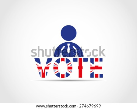UK Great Britain Elections Candidate Speech The Program Project Solution - stock vector