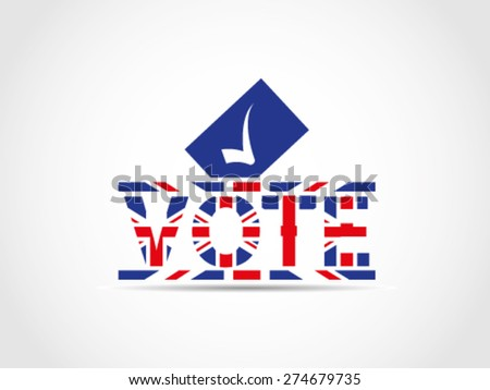 UK Great Britain Elections Checked Choose Politician Party Ballot Text Box - stock vector