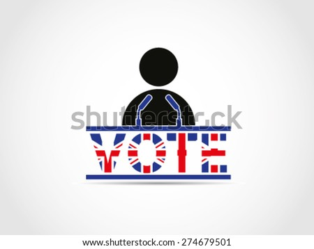 UK Great Britain Elections Folk People Speech Campaign - stock vector