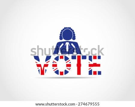 UK Great Britain Elections Judge Speech - stock vector