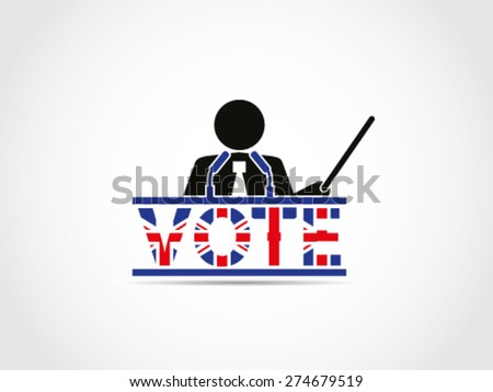 UK Great Britain Elections Teacher Guru Instructor Preceptor Analyst Seminar Briefing Workshop Consultant Project Conference - stock vector