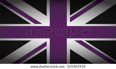 uk purple and black - stock vector