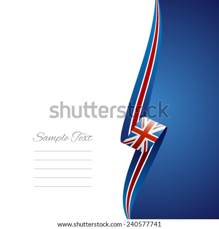 UK right side brochure cover vector - stock vector