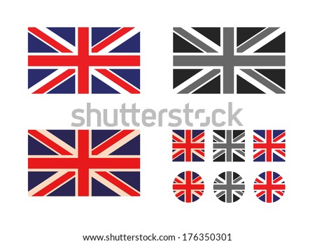 UK. Vector format - stock vector