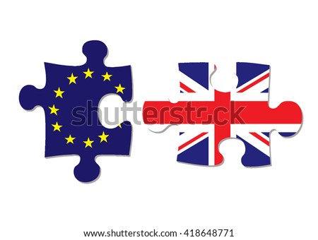 Uk vote to stay or leave european union in june - stock vector