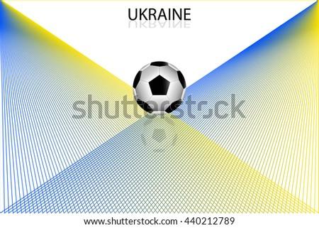 Ukraine football euro background  - stock vector
