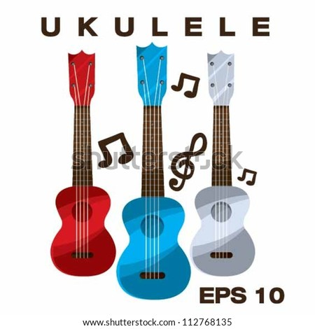 Ukulele vector illustration - stock vector