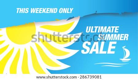 ultimate summer sale banner - stock vector