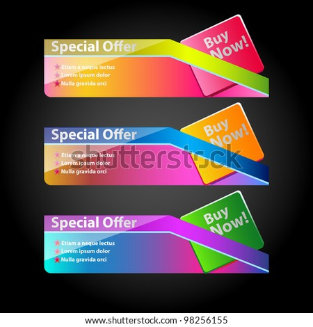 Ultra color Banner Set 2 - stock vector
