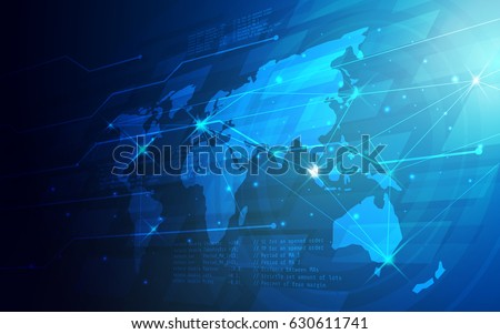 Ultra hd abstract world map technology stock vector 630611741 ultra hd abstract world map technology wallpaper suitable for application desktop banner background gumiabroncs Gallery