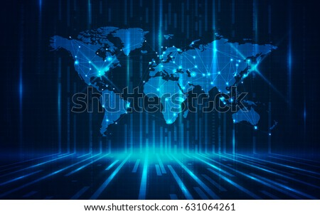 Ultra hd abstract world map technology 631064261 ultra hd abstract world map technology wallpaper suitable for application desktop banner background voltagebd Choice Image