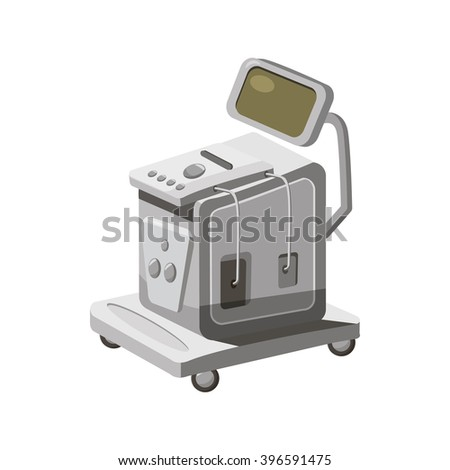 Ultrasonic scanner for medical examination icon - stock vector