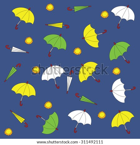 umbrella freehand drawing pattern background