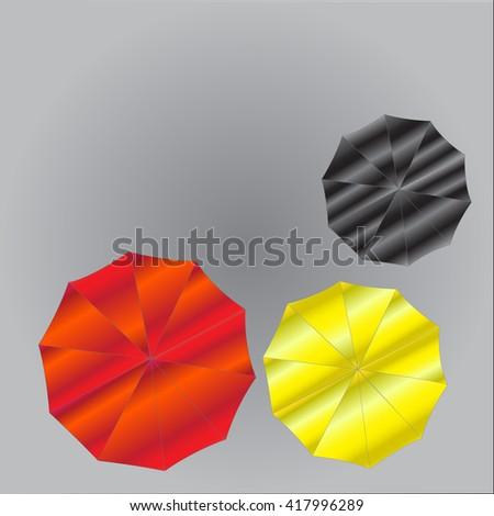Umbrella from Top View. Vector illustration - stock vector