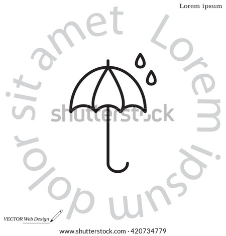 umbrella icon line