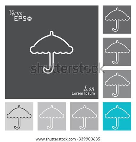 Umbrella icon - vector, illustration. - stock vector