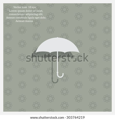 Umbrella icon, vector illustration. Flat design style