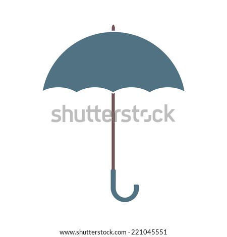 Umbrella isolated on white background. Vector colorful illustration. - stock vector