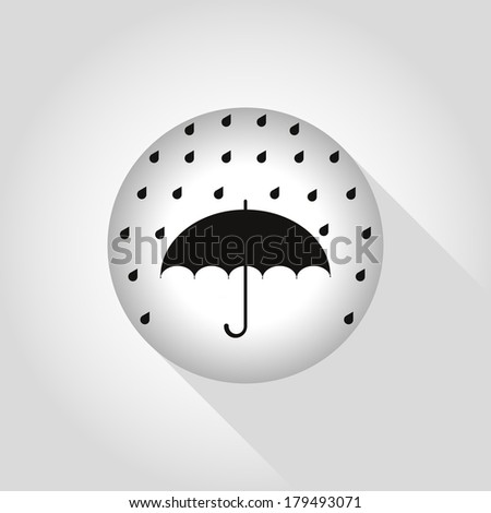 Umbrella protection template background. Parasol icon, with simple backdrop. Rain weather template, with umbrella icon. Elegance concept. Rainy season. Easy to edit. Vector illustration. - stock vector