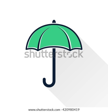 Umbrella    vector icon. Illustration isolated for graphic and web design.