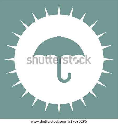 Umbrella vector icon. Rain protection sign. Rainy weather symbol