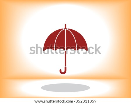 Umbrella vector icons